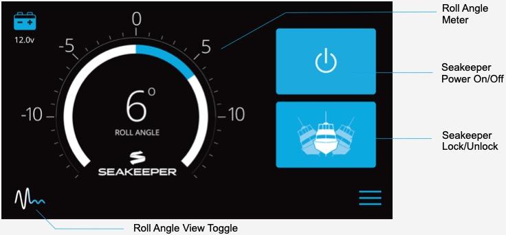 Seakeeper Dash Roll Angle Meter